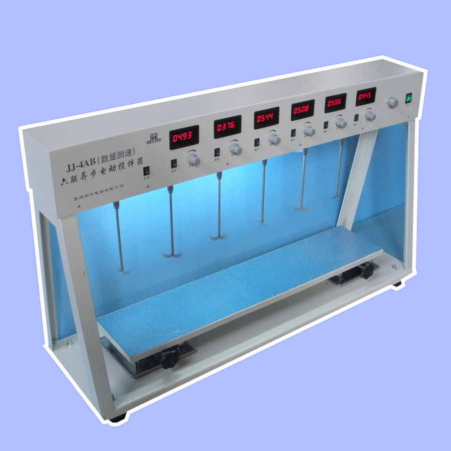 JJ-4ABSix asynchronous digital display speed measuring agitator multi head electric agitator factory direct wholesale